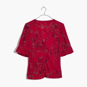 Madewell Daylight Top in Windswept Floral like new